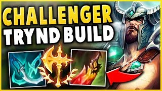 THIS NEW RANK 1 TRYNDAMERE BUILD DESTROYS HIGH-ELO! DEATHS DANCE IS OP! - League of Legends