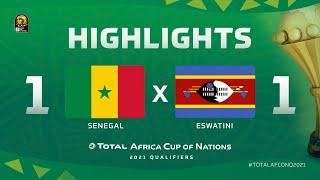 Qualif. CAN 2021   Groupe I : Sénégal 1-1 Eswatini