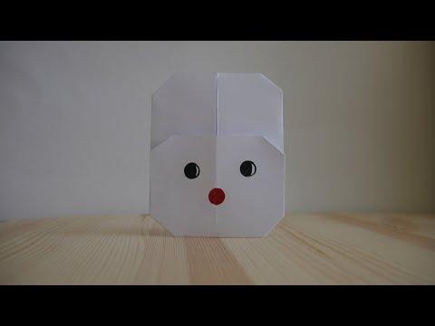 Оригами. Как сделать кролика из бумаги (видео урок)