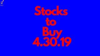 Stocks to Buy (Swing Trading and Technical Analysis)