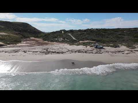 Drone footage of Coronation Beach