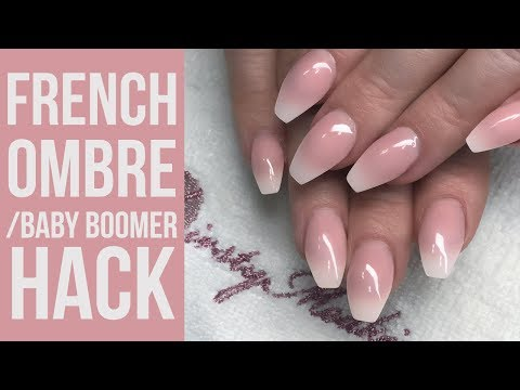 Easy Baby Boomer/French Ombre Hack Using a White Tip