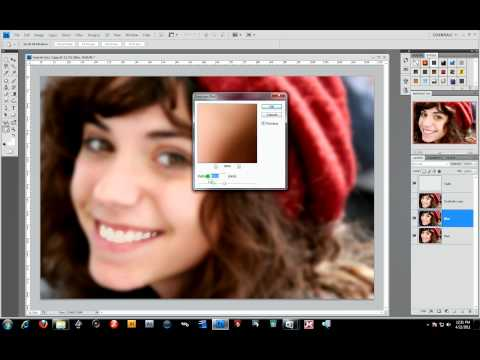 digital retouching of a teen girl photo adobe photoshop