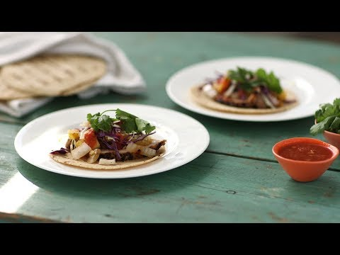 Grilled Pork-and-Pineapple Tacos- Everyday Food with Sarah Carey