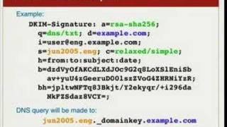 DomainKeys Identified Mail Technology