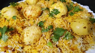 Simple egg biryani|| ande ki biryani easy way to make egg biryani