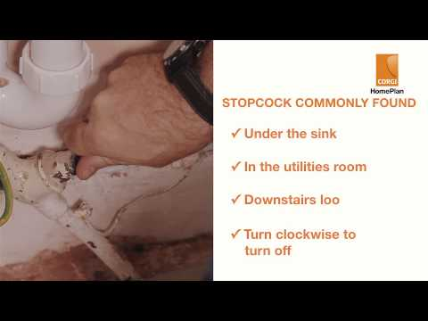 How to locate your stopcock