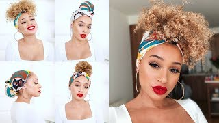 4 Easy Ways To Tie A Headscarf (Summer Hairstyles)