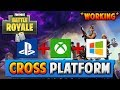 *WORKING* FORTNITE CROSS PLATFORM -XBOX, PS4, PC (How To Play Fortnite Battle Royale Cross Platform)