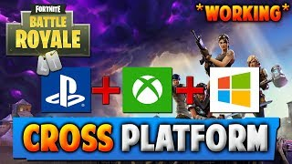 working fortnite cross platform xbox ps4 pc how to play fortnite - fortnite how to play pc and ps4