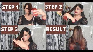 Step By Step LAYER Haircut At Home/ 3 Layer Haircut Easy Haircut At Home