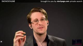 Edward Snowden recommends services like StartPage that don't track you
