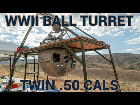 WW2 Ball Turret With Twin .50 Cals At The Big Sandy Shoot