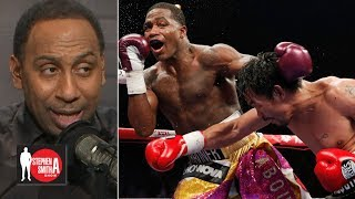 Stephen A  calls out Adrien Broner for saying he beat Manny Pacquiao |  Stephen A. Smith