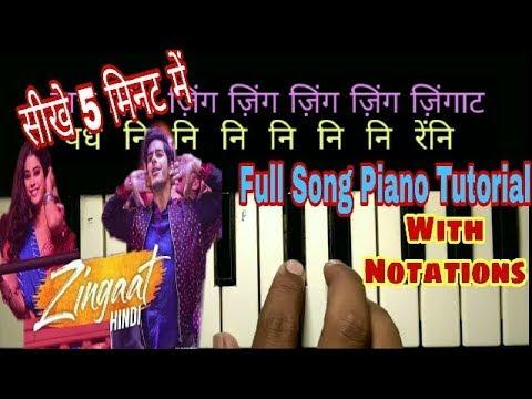 Zingaat hindi dhadak piano tutorial/harmonium notes, swarlipi |ishan,janhvi|Ajay-Atul|Musical Guruji