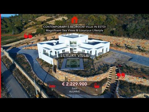 Estoi - Villa de 5 chambres avec une vue Magnifique sur la côte de l'Algarve