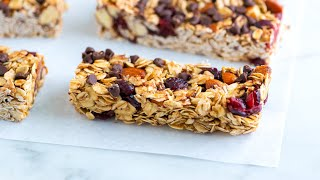 How To Make Soft And Chewy Granola Bars - Homemade Granola Bar Recipe