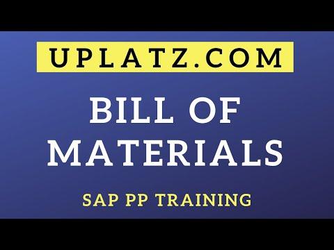 Bill of Materials (BOM) | SAP Production Planning | SAP PP Training ...