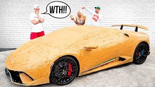 They COVERED My LAMBORGHINI IN PEANUT BUTTER!! (prank)