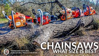 Best Chainsaw Size For A Homeowner, Rancher, Farmer, Or Landowner