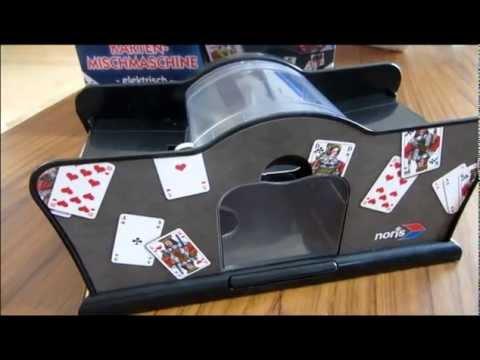 Elektrische Kartenmischmaschine Test