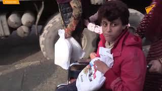 Rosyjscy wojskowi rozdali mieszkańcom syryjskiej Rakki artykuły spożywcze