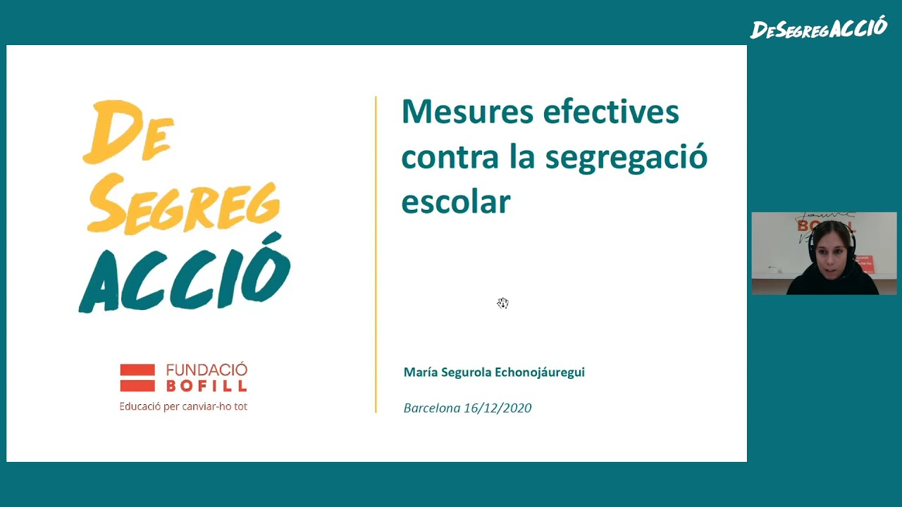 Segregació escolar: quin és el problema i quines polítiques municipals funcionen. María Segurola.