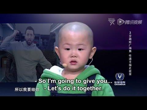3 years old baby dances on Eminem - Godzilla ft. Juice WRLD