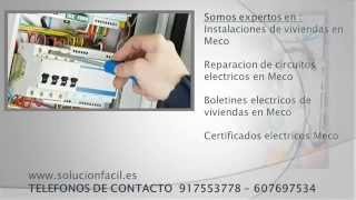 preview picture of video 'Tecnico electricista en Meco - 91.755.37.78'