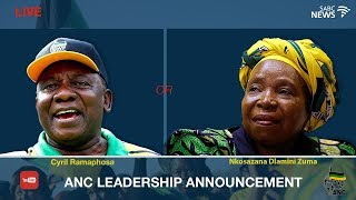 ANC announces its new leadership
