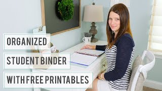 Organized Student Binder With Free Printables - Back-to-School