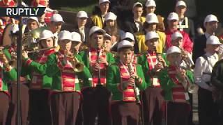 Более тысячи юных музыкантов выступили у стен Кремля