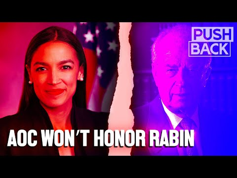AOC withdraws from event honoring Yitzhak Rabin after Palestinian-led outcry