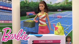 Chelsea Doll Learns About Being a Tennis Player | Barbie Careers | Barbie