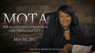 Cynthia Mota For Allentown City Council Commercial (English)