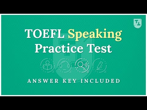 TOEFL Practice Test - The Speaking Section - YouTube
