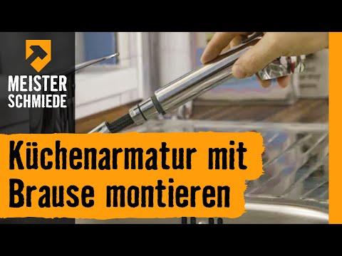 Küchenarmatur mit Brause montieren | HORNBACH Meisterschmiede