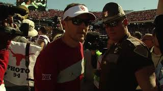 Horns Down and Oklahoma Sooners Celebration -  Red River Rivalry 2019