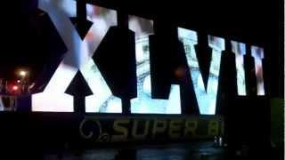Super Bowl XLVII Logo Arrives By Barge in New Orleans