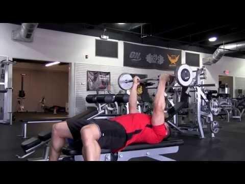 Lying EZ Bar Reverse Grip Tricep Extension