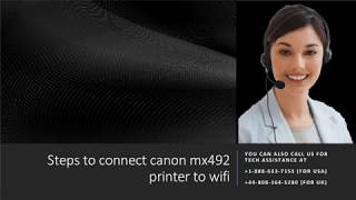 Steps to setup canon mx492 printer setup