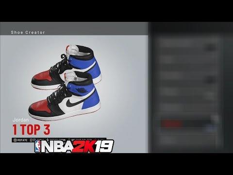 "NBA 2k19 Shoe Creator - Air Jordan 1 "" Off White"" (HEAT) - игровое"