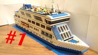 Лего круизный лайнер 2.0 (самоделка) часть1 /  Lego MOC cruise ship 2.0 part1