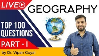 Geography India & World   Top 100 MCQ for UPSC State PCS SSC CGL Railway by Dr Vipan Goyal   Part 1