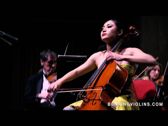 Cellist Tina Guo performs Saint-Saëns Cello Concerto on an Eric Benning-crafted Cello Video