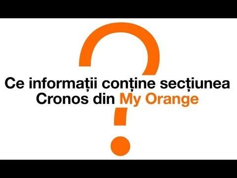 Ce informații conține secțiunea Cronos din My Orange ?