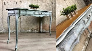French Provincial Console Table Makeover W Chalk Paint