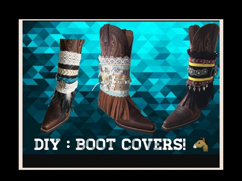 DIY Boot Covers | | Accesorios Para Botas