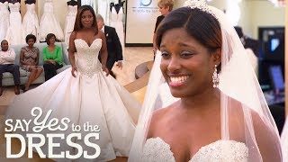 Bride Falls In Love With Satin Princess Ballgown | Say Yes To The Dress Atlanta