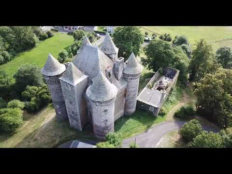 Survol chateau du Bousquet,